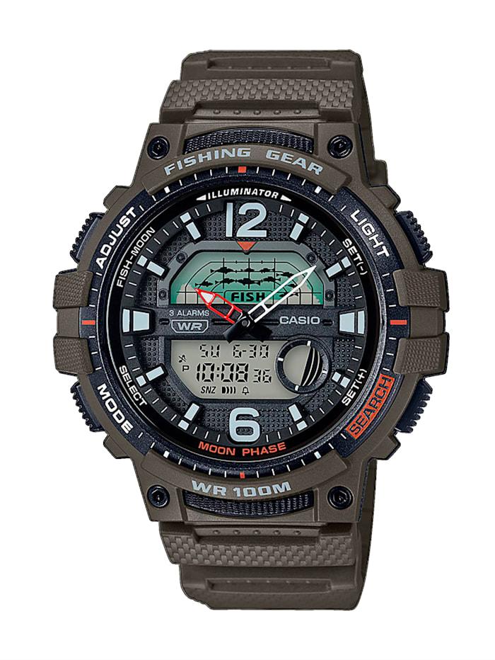 casio - Herren-Uhr Chronograph  Grün