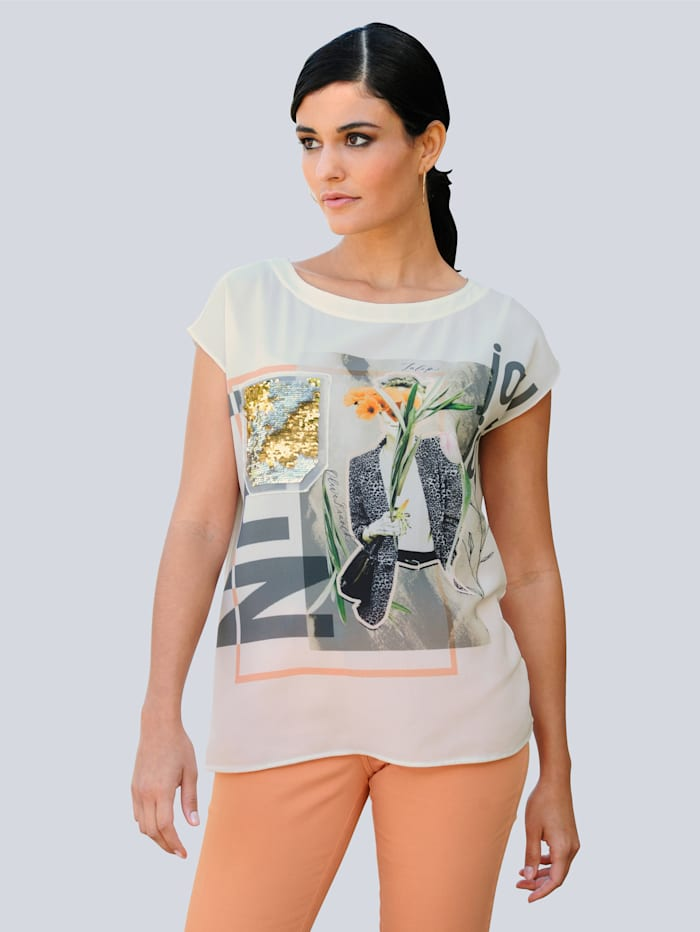 Shirt Alba Moda Offwhite::Beige::Apricot