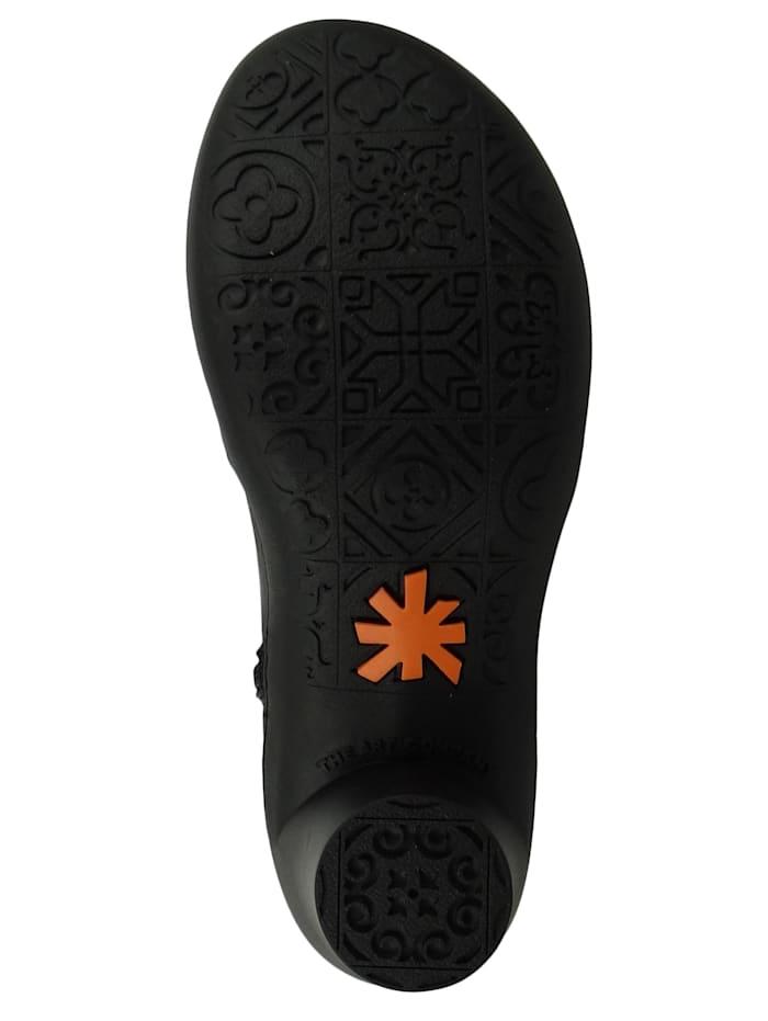 *art - Leder Stiefelette Ankle Boot Alfma Black Schwarz 1442  Black