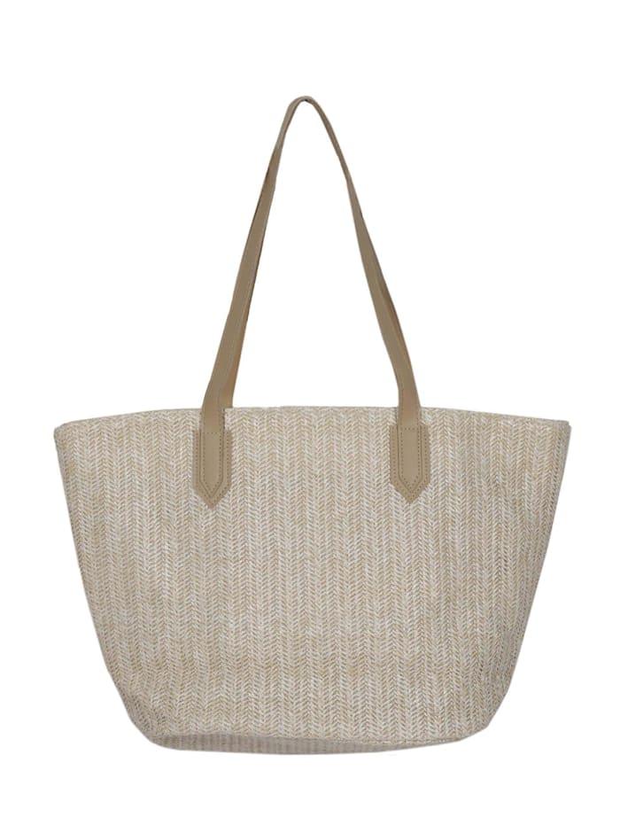 zwillingsherz - Tasche Strandtasche Lenja  beige