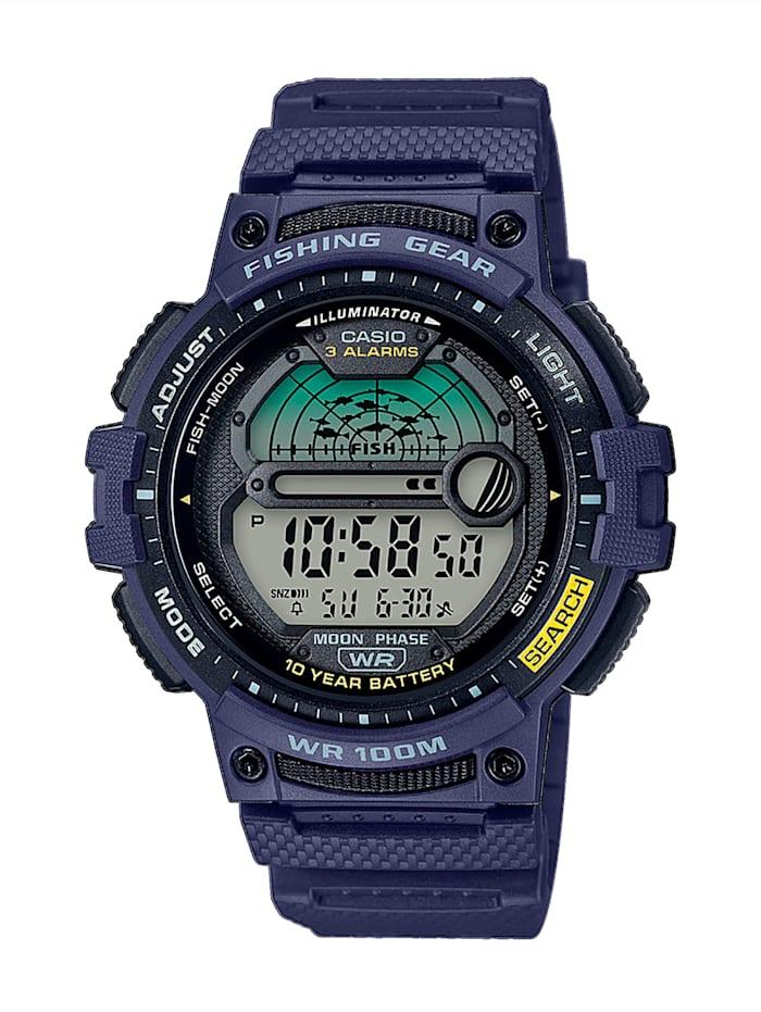 casio - Herren-Uhr Chronograph  Blau