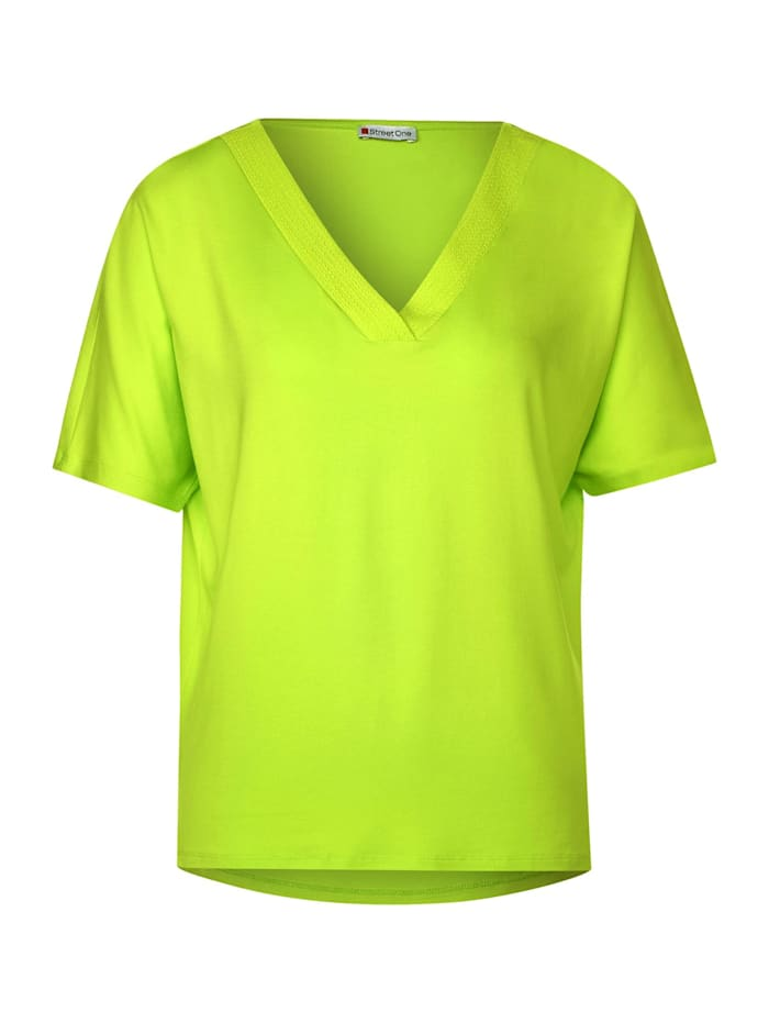 street one - Lässiges T-Shirt in Unifarbe  laser lime