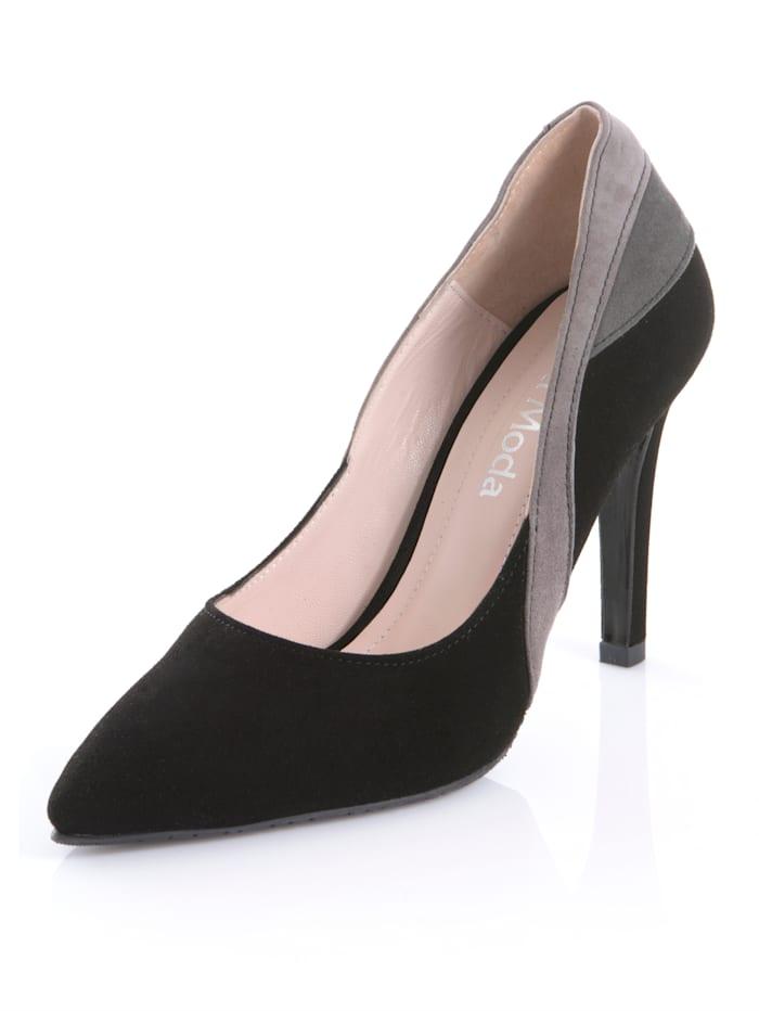Pump Alba Moda Zwart::Grijs