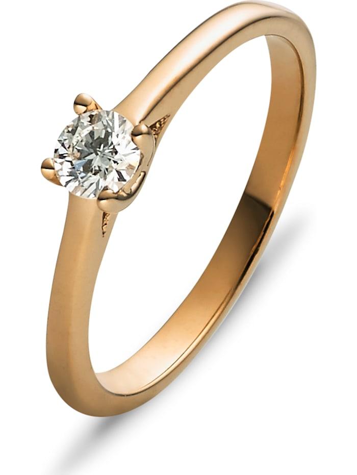 christ diamonds -  Damen-Damenring 585er Gelbgold 1 Brillanten  gold