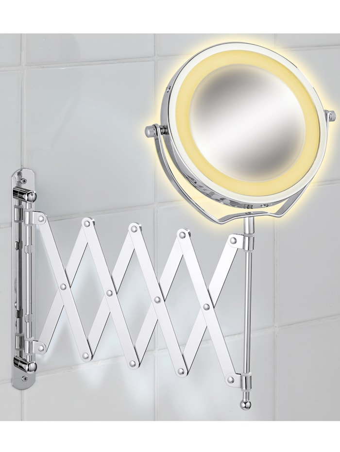 LED Wandspiegel Wenko silber