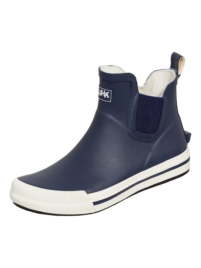 saliha - Stiefel Damen-Halbstiefel Momo  dunkelblau/weiß