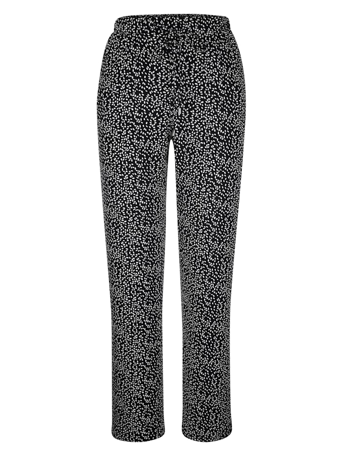 M. collection Broek  zwart gestippeld