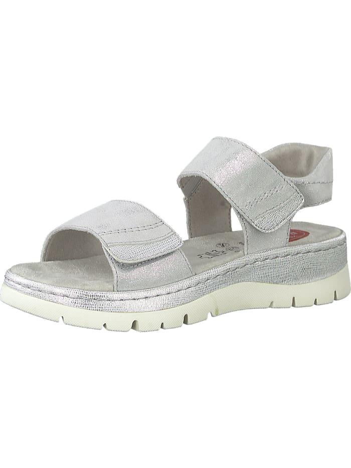 jana - Klassische Sandaletten  silber