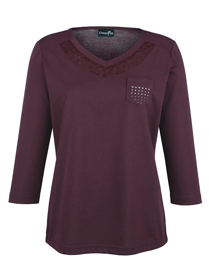 T-shirt Dress In Aubergine