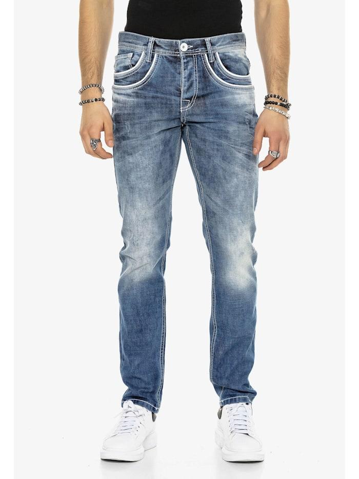 cipo & baxx - Jeans mit aufgestickten Taschen  Blue Jeans