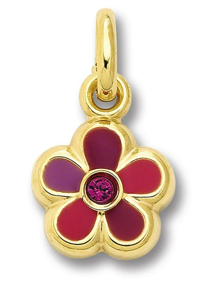 one element - Damen Schmuck Anhänger Blume aus 333 Gelbgold Zirkonia  gold