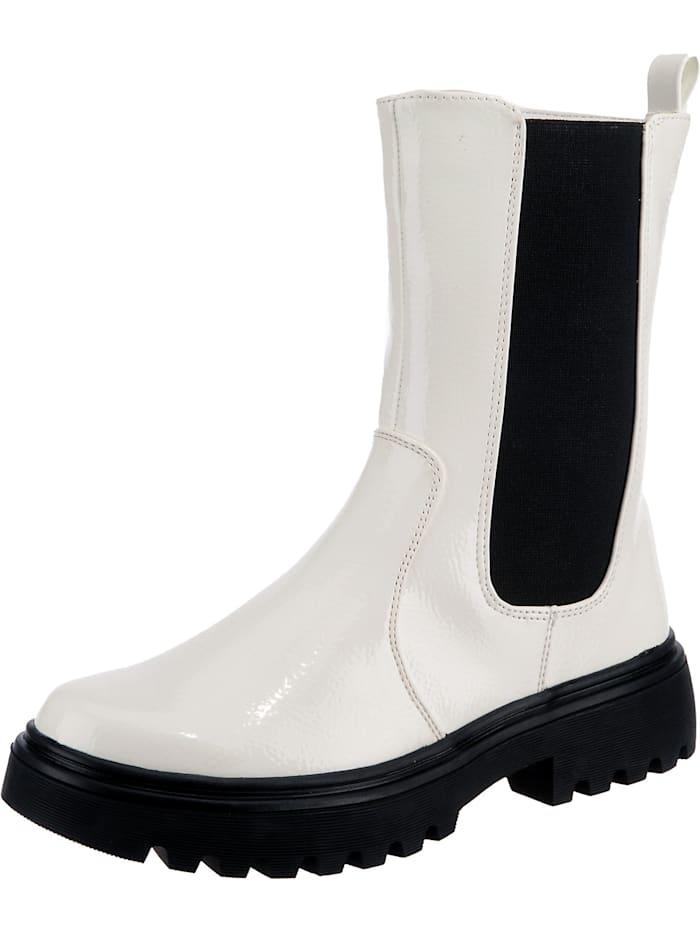 ambellis - Shiny High Chelsea Boot mit Zipper  weiß