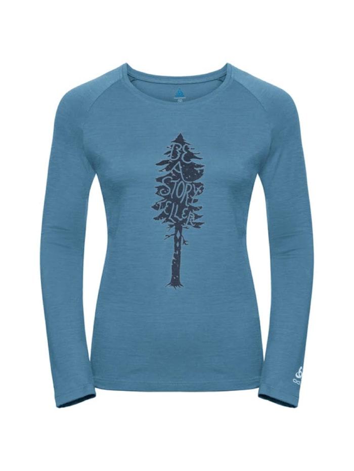 odlo -  Longsleeve T-shirt l/s crew neck  Blau