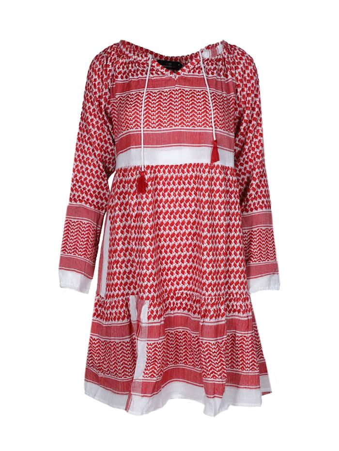 zwillingsherz - Sommerkleid Kleid Valentina  rot/weiß