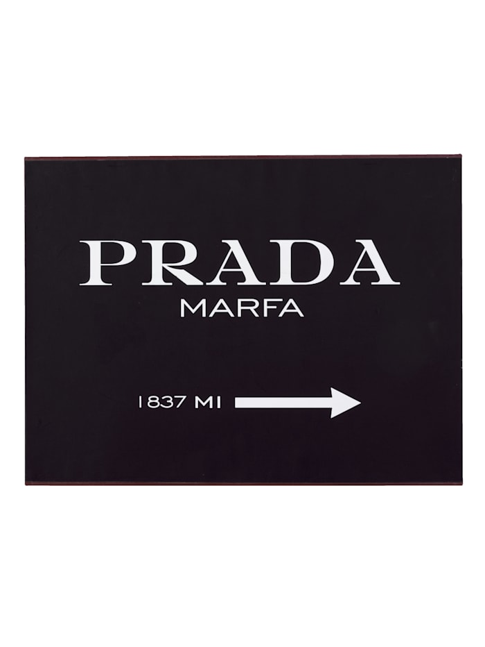 Metallschild, Prada, Impressionen Deal 2491