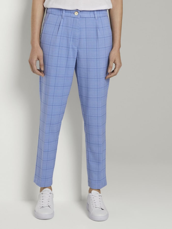 tom tailor mine to five - Karierte Chino Hose  blue check design