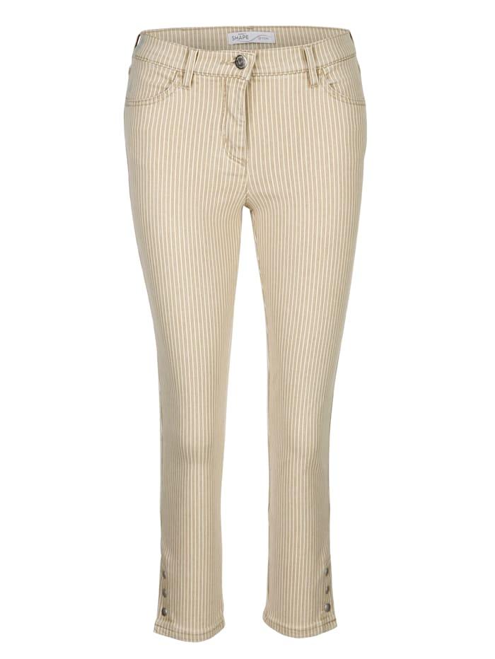 7/8-jeans Toni Beige::Ecru