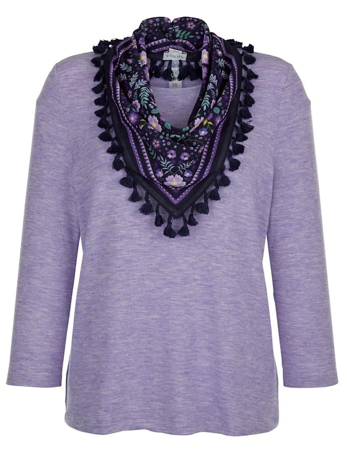 Shirt met sjaal MONA Lila