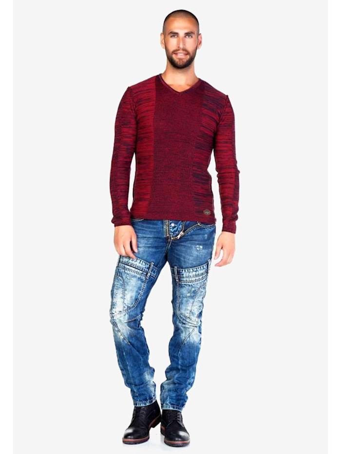 cipo & baxx - Jeans mit auffälligen Details  in Straight Fit  Darkblue