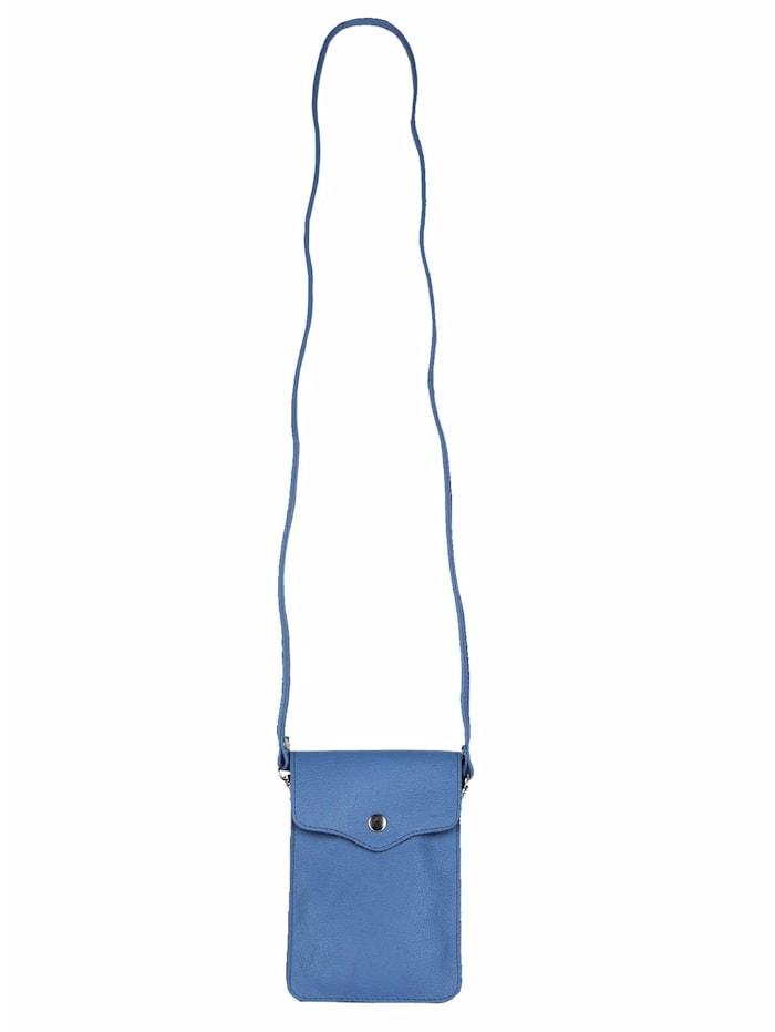 zwillingsherz - Umhängetasche 100% Leder Handytasche Verena  jeansblau