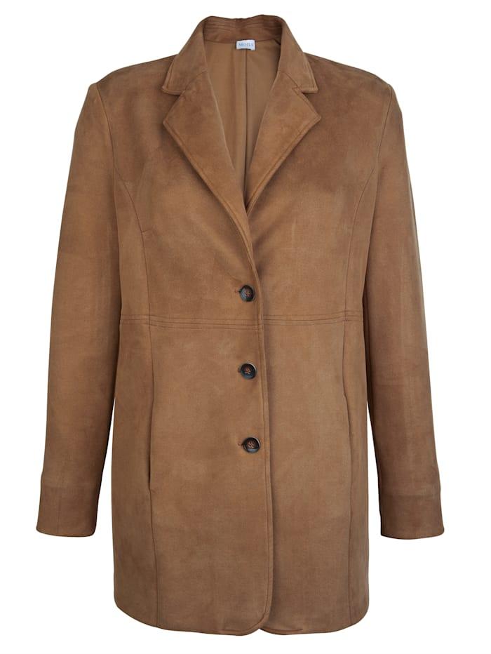 Robe manteau MONA Cognac
