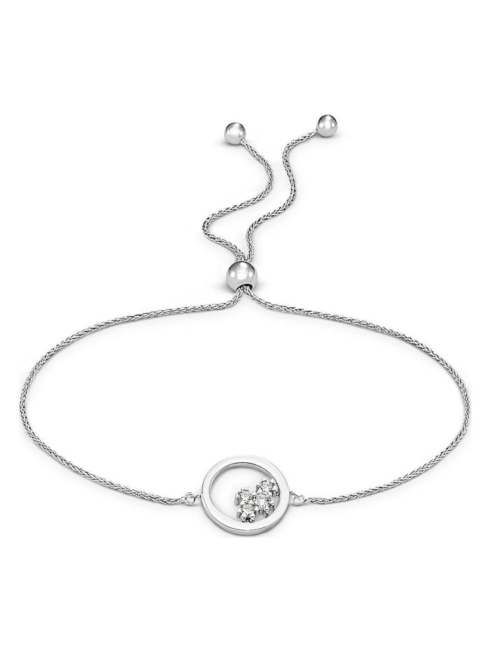 christ diamonds -  Damen-Armband 375er Weißgold 4 Diamant  weißgold