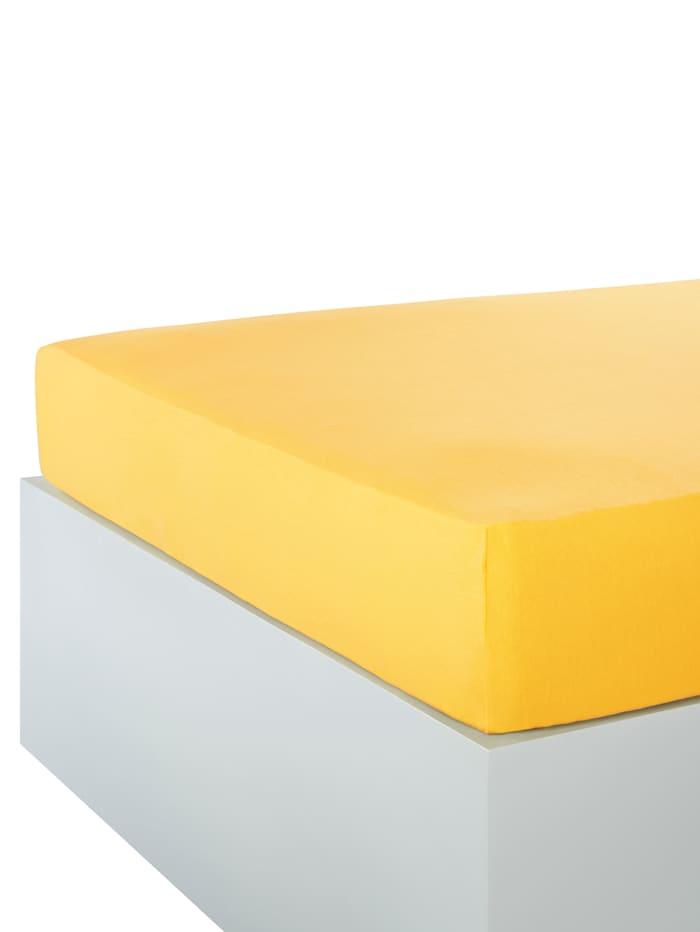 Hoeslaken Webschatz geel