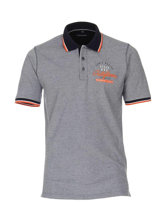 casamoda - Polo-Shirt uni  Weißblau