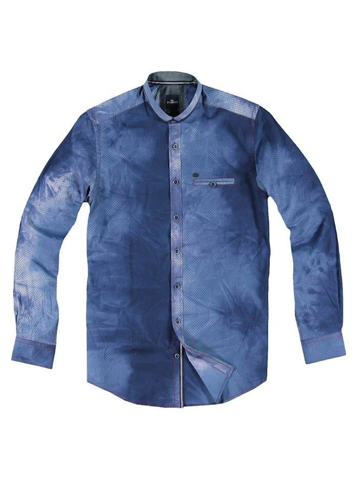engbers - Individuell gefärbtes Langarmhemd  Saphirblau