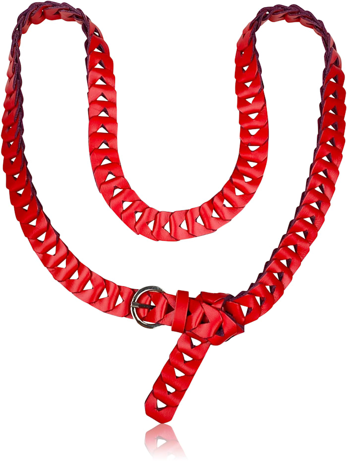 collezione alessandro - Ledergürtel Element  rot