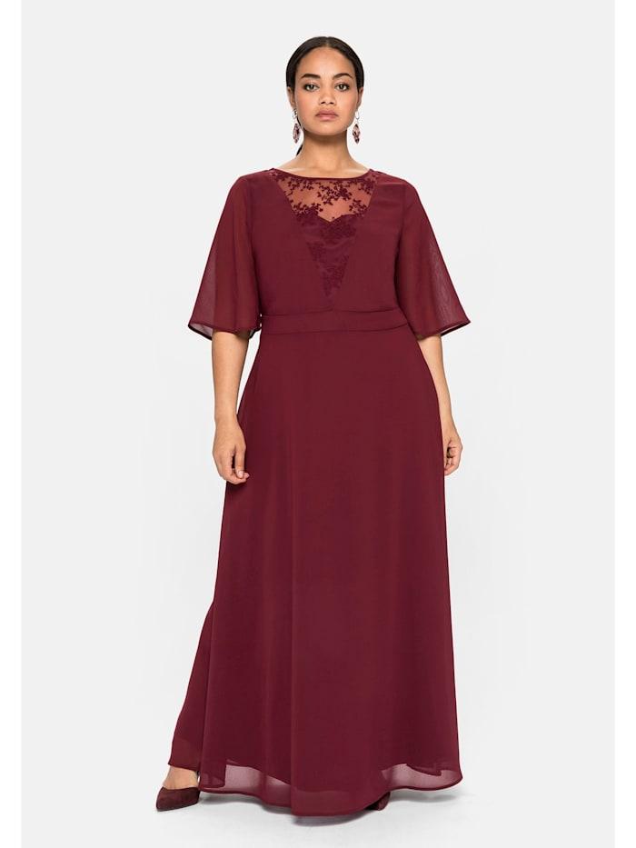 sheego -  Abendkleid  weinrot
