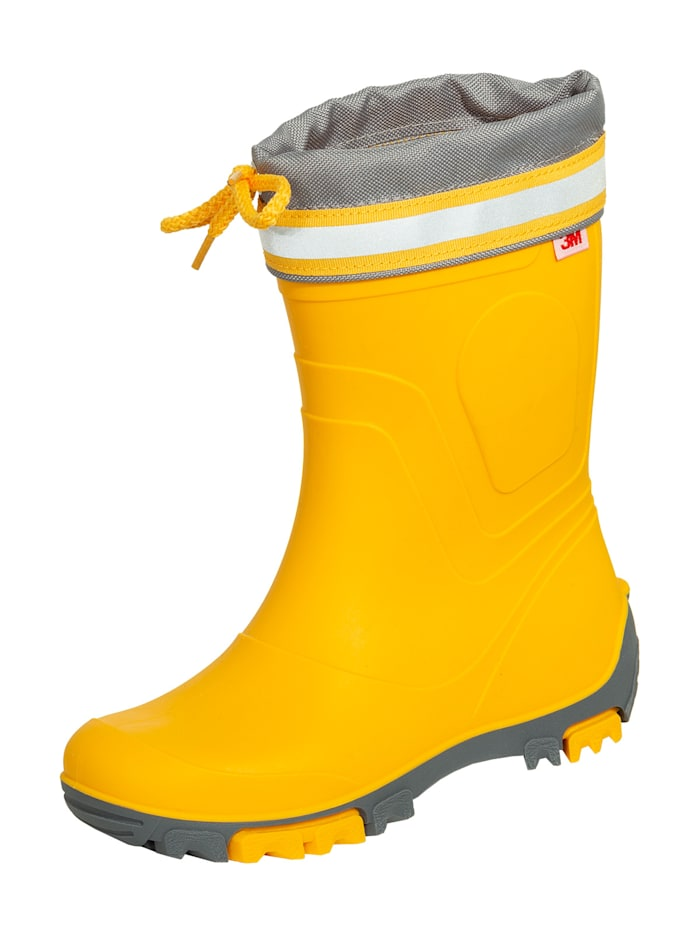 potthoff - Stiefel Kinderstiefel Bente  gelb/dunkelgrau