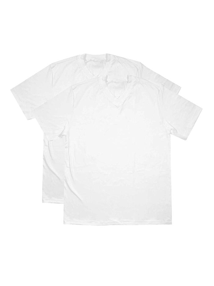 schiesser - V-Neck Shirt im Doppelpack  weiß