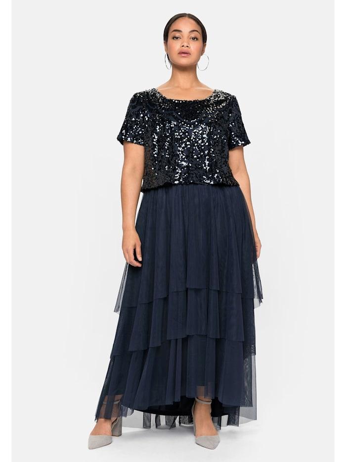 sheego -  Abendkleid  nachtblau
