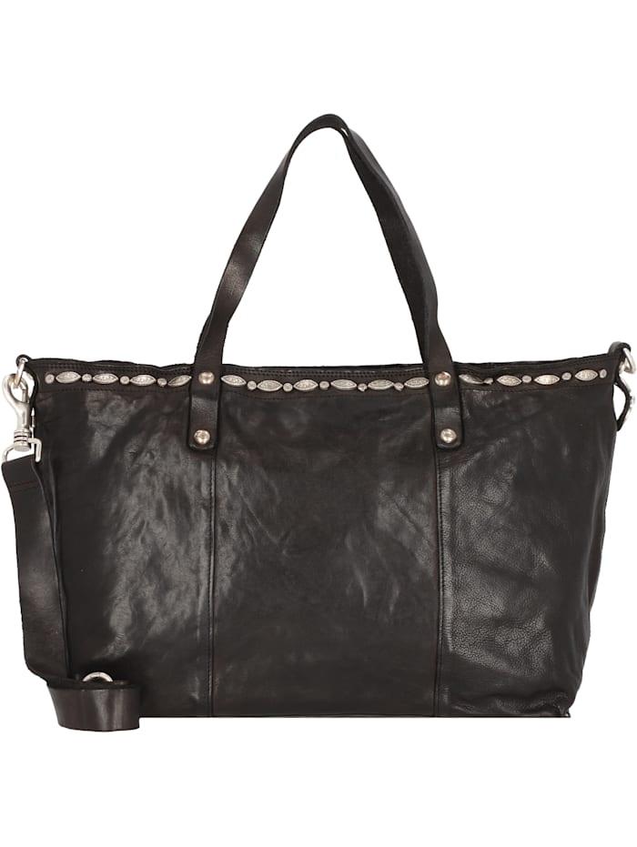 campomaggi - Shopper Tasche Leder 36,5 cm  nero