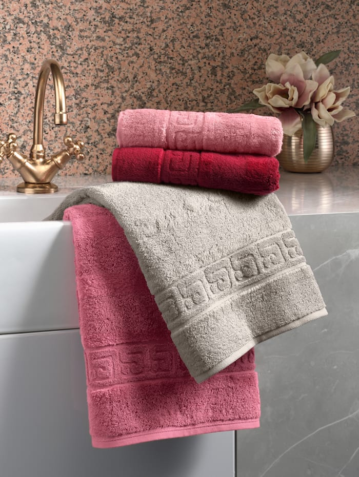 Handdoeken Noblesse Uni Cawö roze