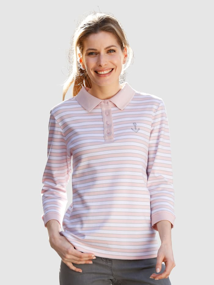 Poloshirt Dress In Roze