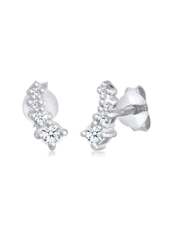 Ohrringe Ohrstecker Diamant Verlauf (0.17 Ct.) 925Er Silber DIAMORE Silber