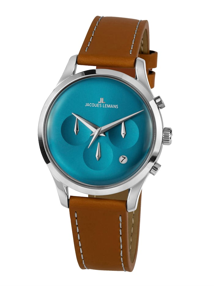jacques lemans - Herren-Uhr Chronograph  Braun