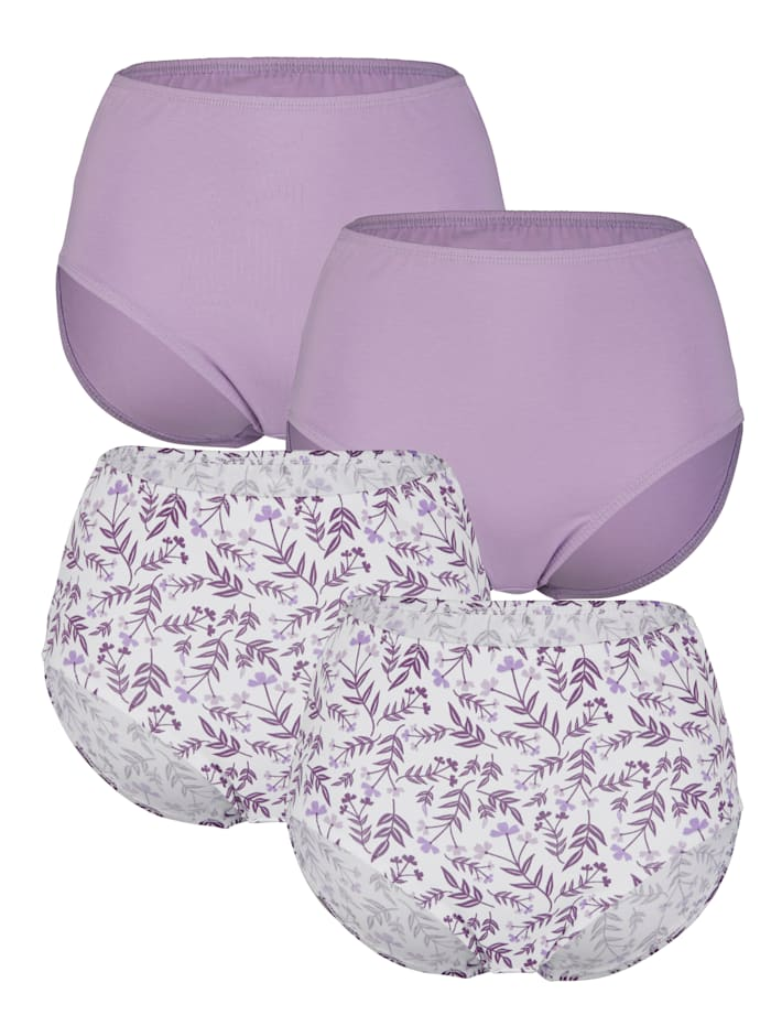 Culottes Harmony 2x parme, 2x blanc
