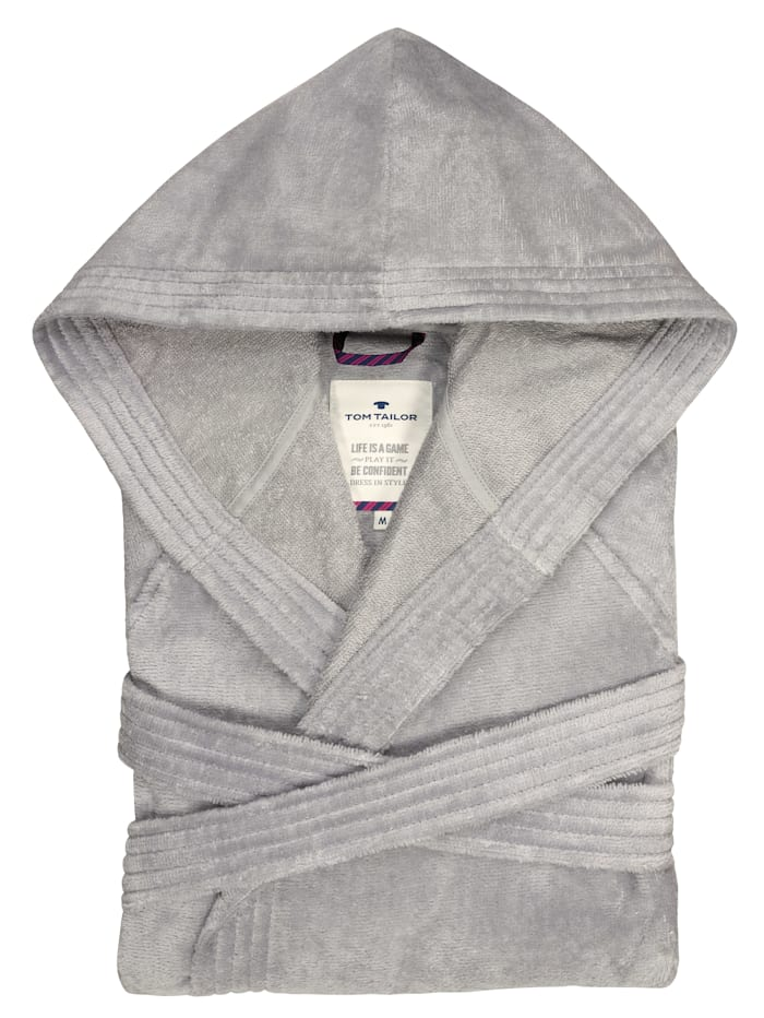 Bademantel Sassari Tom Tailor silber