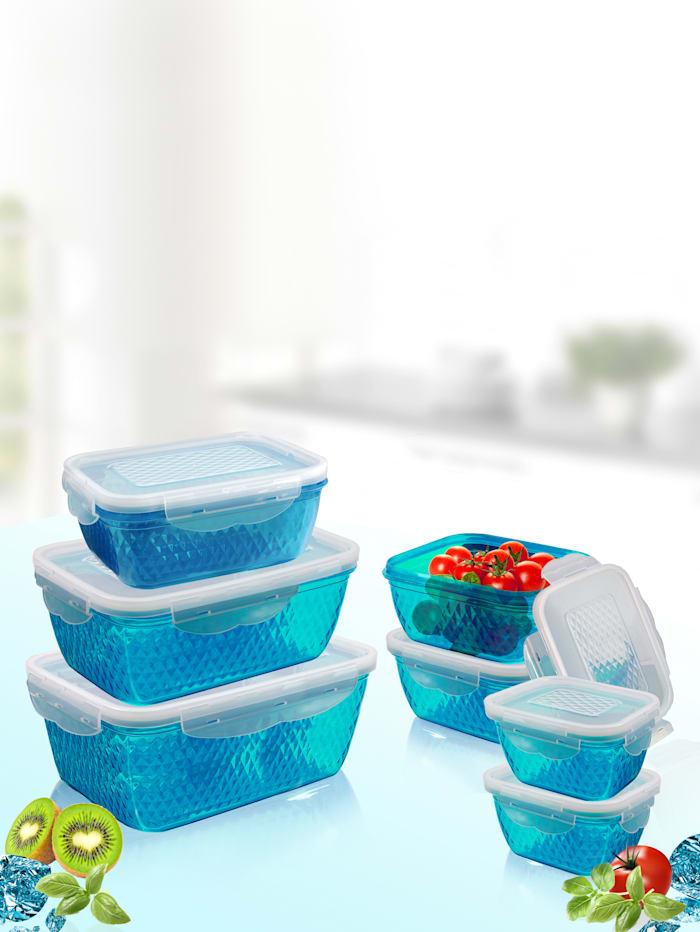 Image of 14tlg. Frischhaltedosen-Set 'DIAMANT' HSP Hanseshopping blau
