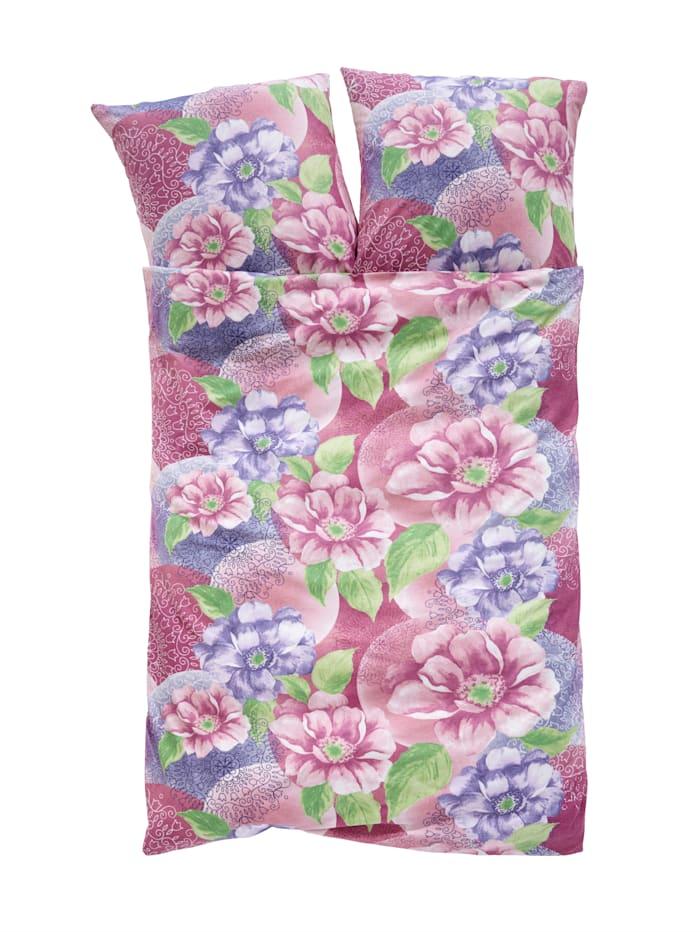 2-delige set bedlinnen Johanna Webschatz paars/roze