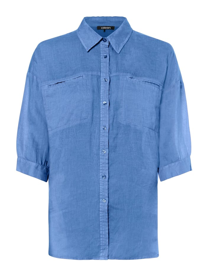 Klassische Bluse mit Brusttaschen Olsen True Blue