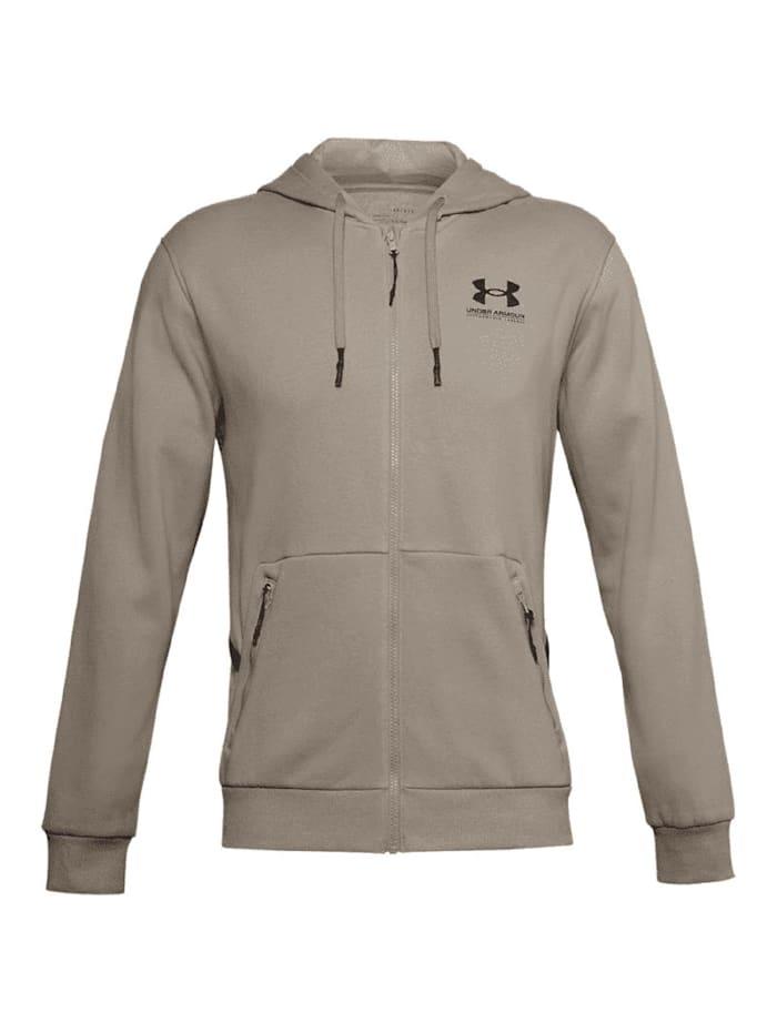 under armour -  Hoodie Rival Logo Fleece FZ  Grau
