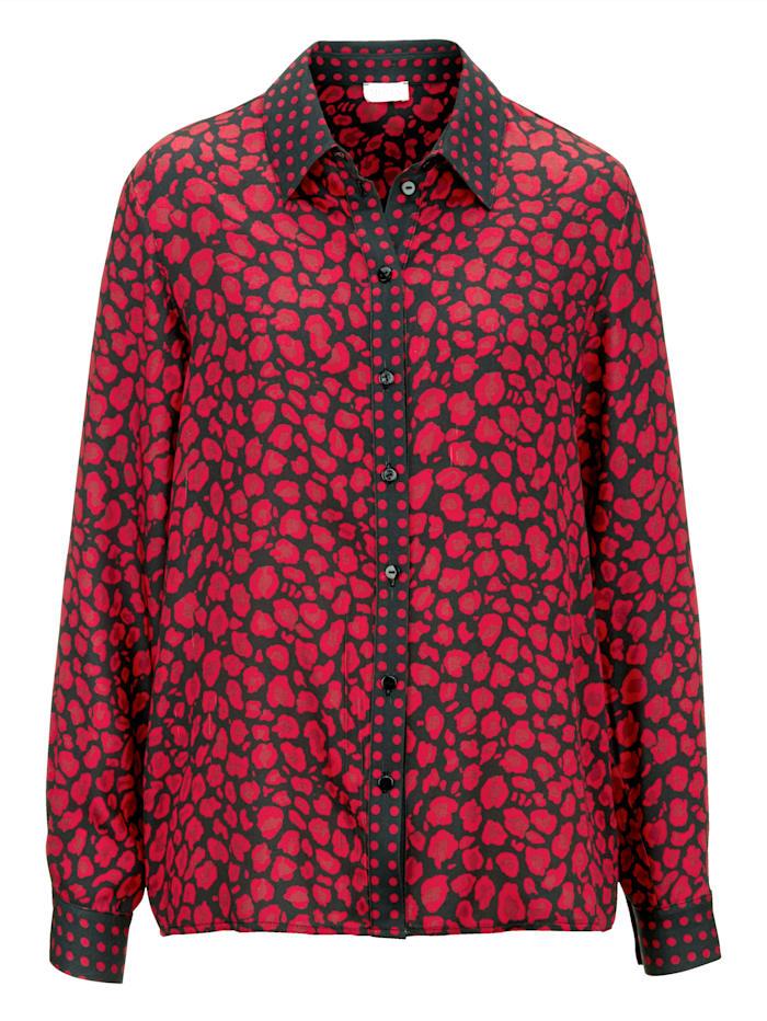 Blouse MONA Zwart::Rood