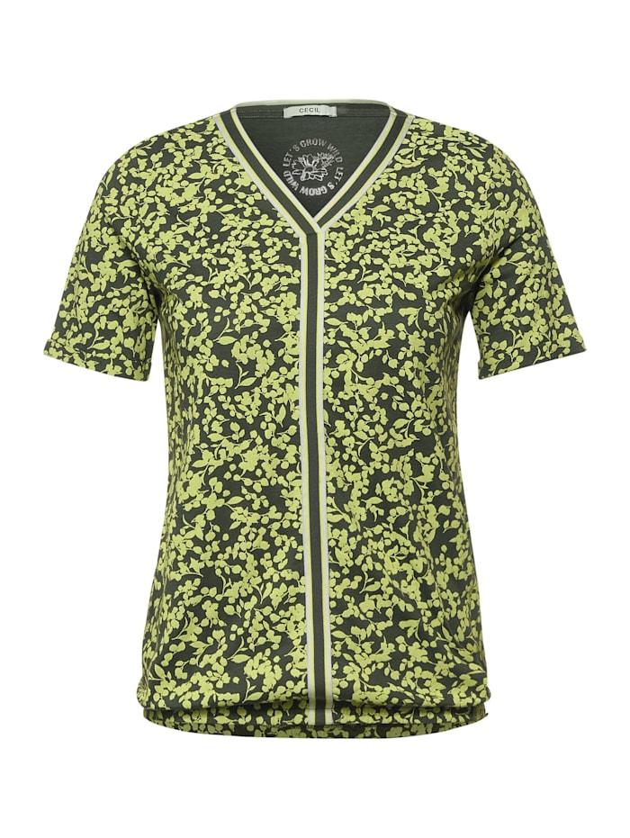 cecil - T-Shirt mit Print  utility olive