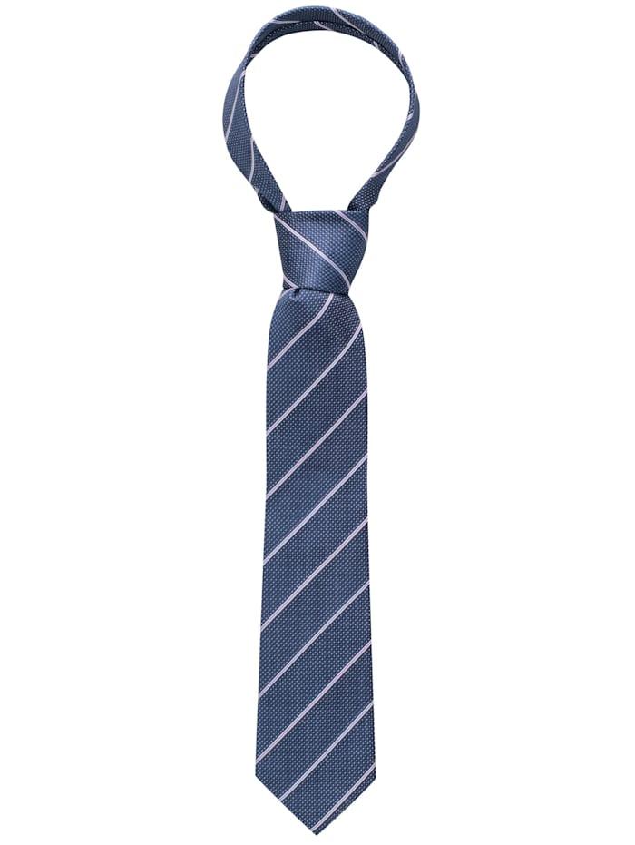 eterna - Krawatte breit gestreift  dunkelblau