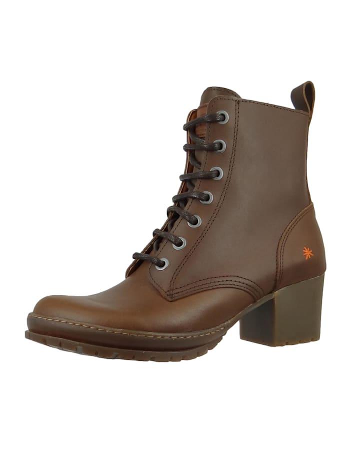 *art - Damen Leder Stiefelette Ankle Boot Camden Brown Braun 1237  Brown