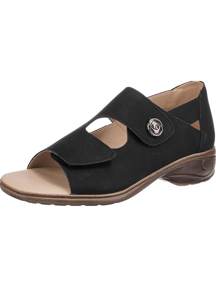 ambellis - offene comfy Sandalen mit Klettverschluss  schwarz